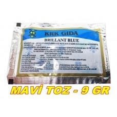 Toz Gıda Boyası Krk Marka Mavi 1 Adet 9 Gr