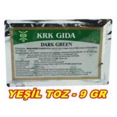 Toz Gıda Boyası Krk Marka Yeşil 1 Adet 9 Gr