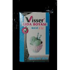 Toz Gıda Boyası Visser Mavi Renk 1 Adet 9 Gr