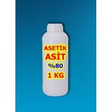 Asetik Asit Sirke Ruhu Yüzde 80 - 1 Kg - C2H4O2