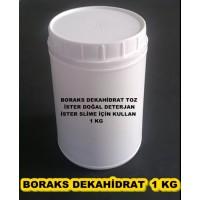 Kavanozda Boraks Dekahidrat 1 KG - Alternatif Temizlik - Doğal Deterjan