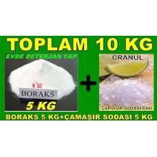 Boraks 5kg + Granül Ç.Soda 5kg Toplam 10 Kg