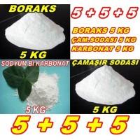 Boraks 5kg + Ç.Soda 5kg + Karbonat 5kg - 5 5 5