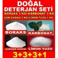 Boraks 3kg + Ç.Soda 3kg + Karbonat 3kg + Limon Tuzu 1Kg 3331