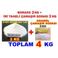Boraks 2kg + Granül Ç.Soda 2kg Toplam 4 Kg