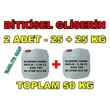Gliserin Bitkisel 40 Litre - 25+25 Kg