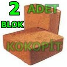 Cocopeat Blok- Kokopit 30x10x30 Cm İthal 2 Adet