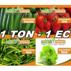 1 Ton 1 EC Ticari Besin Kiti - Toz Besin Eriyiği