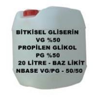Bitkisel Gliserin (50) Ve Mono Propilen Glikol (50) Karışımı VG/PG - 50/50 Lik 20 Litre