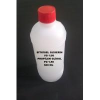 Bitkisel Gliserin (50) Ve Mono Propilen Glikol (50) Karışımı VG/PG - 50/50 500 ML