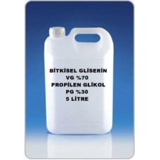 Bitkisel Gliserin (70) Ve Mono Propilen Glikol (30) Karışımı VG/PG - 70/30 5 Litre