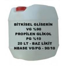 Bitkisel Gliserin (90) Ve Mono Propilen Glikol (10) Karışımı VG/PG - 90/10 - 20 Litre