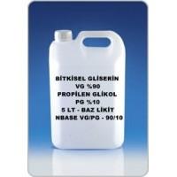 Bitkisel Gliserin (90) Ve Mono Propilen Glikol (10) Karışımı VG/PG - 90/10 - 5 Litre