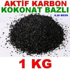 Aktif Karbon Coconut Bazlı Filtre Malzemesi Kokonat Hindistan Cevizi 1 Kg