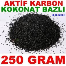 Aktif Karbon Coconut Bazlı Filtre Malzemesi Kokonat Hindistan Cevizi 250 Gr