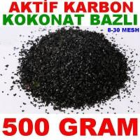 Aktif Karbon Coconut Bazlı Filtre Malzemesi Kokonat Hindistan Cevizi 500 Gr