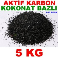 Aktif Karbon Coconut Bazlı Filtre Malzemesi Kokonat Hindistan Cevizi 5 Kg
