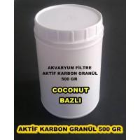 Aktif Karbon Coconut Bazlı Filtre Malzemesi 500 Gr Plastik Kavanozda