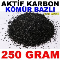 Aktif Karbon Kömür Bazlı Filtre Malzemesi Granül 250 Gr