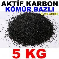 Aktif Karbon Kömür Bazlı Filtre Malzemesi Granül 5 Kg