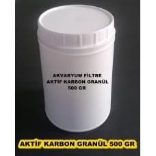 Aktif Karbon Filtre Malzemesi Granül 500 Gr Plastik Kavanozda